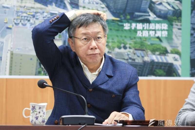 台北市長柯文哲回應柯家軍陳思宇的相關爭議。(資料照片,簡必丞攝)