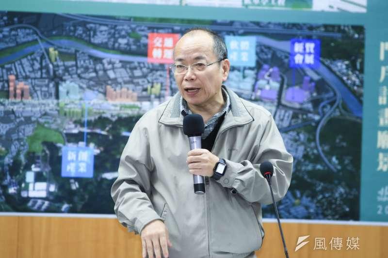 20181213-張景森政務13日出席蔡柯會。(簡必丞攝)