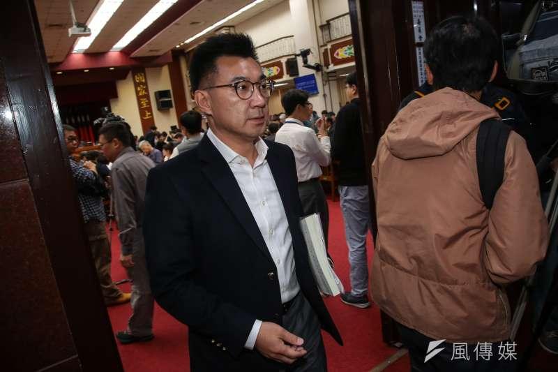 針對台灣社會虐童案頻傳,國民黨總召江啟臣(見圖)、立委許淑華皆提案修《刑法》。(顏麟宇攝)