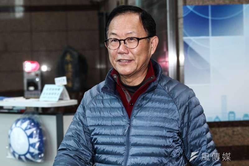 20181213-丁守中於國民黨中央黨部發表重新計票結果談話。(蔡親傑攝)