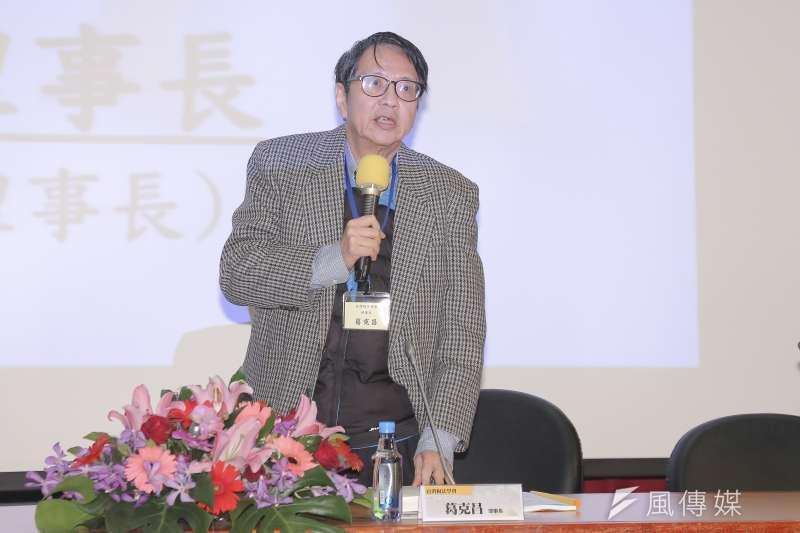 20181214-台灣稅法學會理事長葛克昌明白指出,《納保法》係以「賦稅人權」保障及「租稅正義」追求為核心理念,也就是納稅人都應關注「賦稅人權」。 (周宸亘攝)