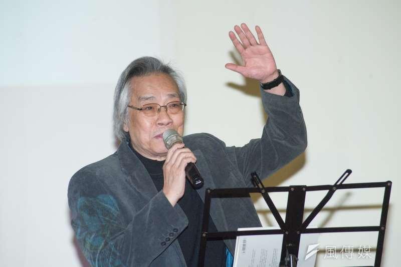 20181216-李維菁追思會暨新書發表會,上報董事長王健壯。(甘岱民攝)