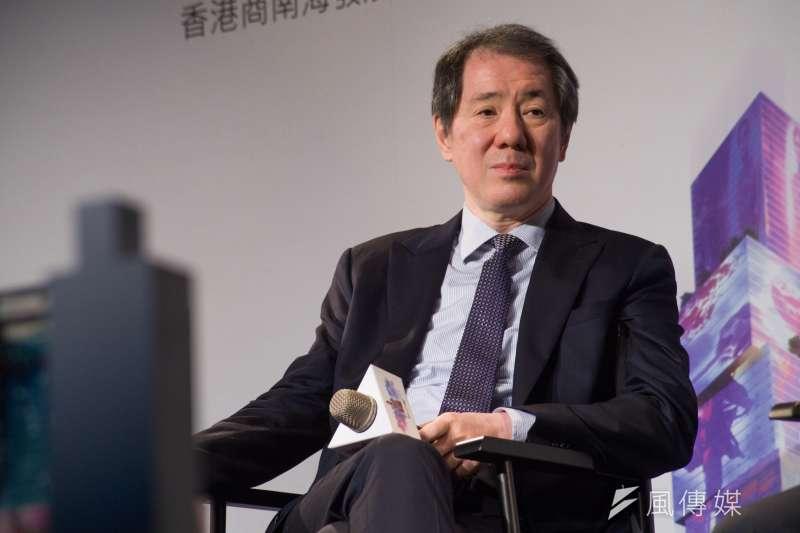 于品海的南海控股以647億元取得台北雙子星最優申請人資格。(甘岱民攝)