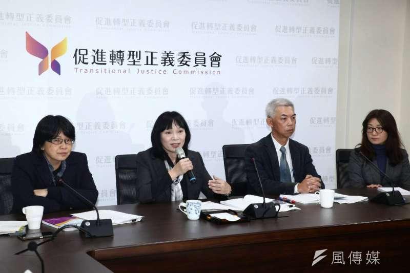促進轉型正義委員會召開半年任務進度報告記者會,念茲在茲蔣介石。(蔡親傑攝)