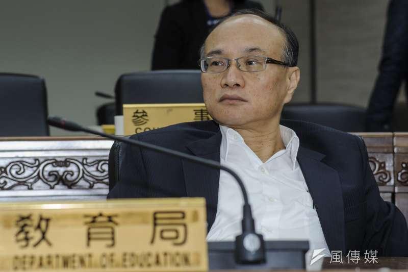 20181218-台北市政府團隊總辭,教育局長曾燦金。(甘岱民攝)