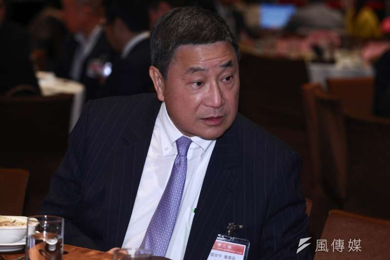 台泥日前宣布,將公開收購信昌化剩餘57.48%股權,並於近日達成7成門檻。圖為台泥董事長張安平。(資料照,蔡親傑攝)