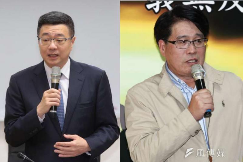 民進黨將在元月6日舉行黨主席補選,兩位參選人是行政院院秘書長卓榮泰(左),台灣民意基金會董事長游盈隆(右),兩人正式對決。(資料照,顏麟宇、蔡親傑攝/風傳媒合成)