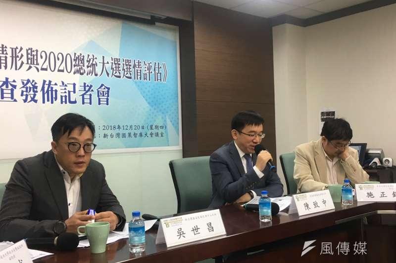 新台灣國策智庫今(20)發布最新民調,指出有51.4%總統蔡英文應替民進黨敗選負責。(周思宇攝)