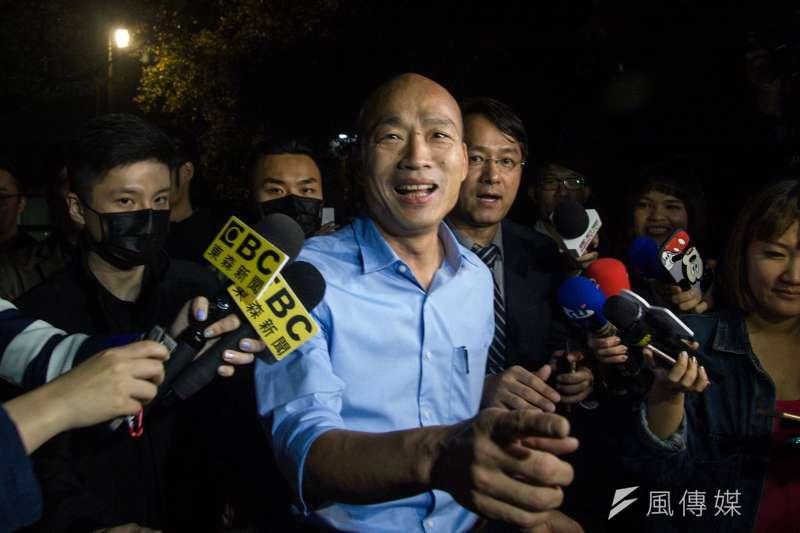 高雄市長當選人韓國瑜就職前接受媒體訪問。(資料照片,甘岱民攝)