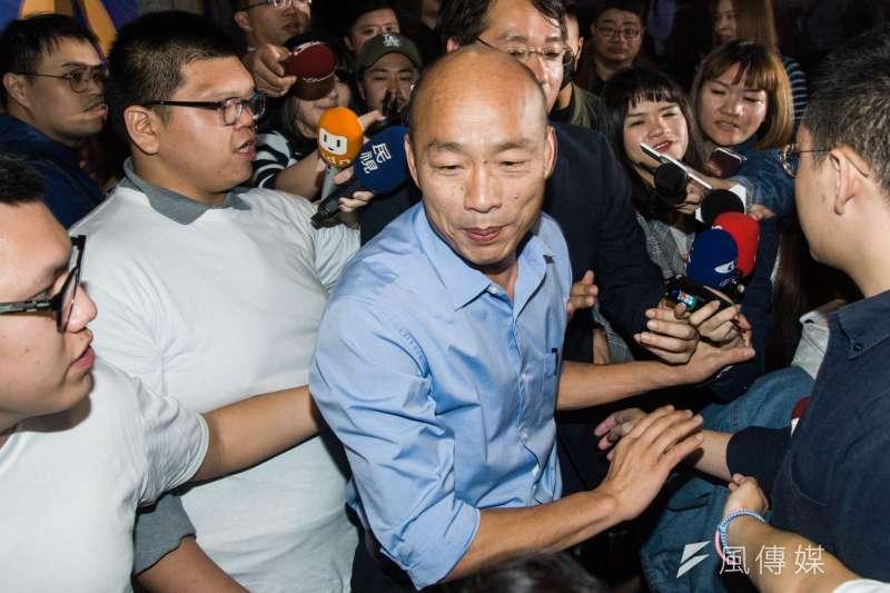 準高雄市長韓國瑜就職典禮預定要在愛河旁舉行,豈料交通管制範圍、時間過大,遭網友轟是「登基大典」。(資料照,甘岱民攝)