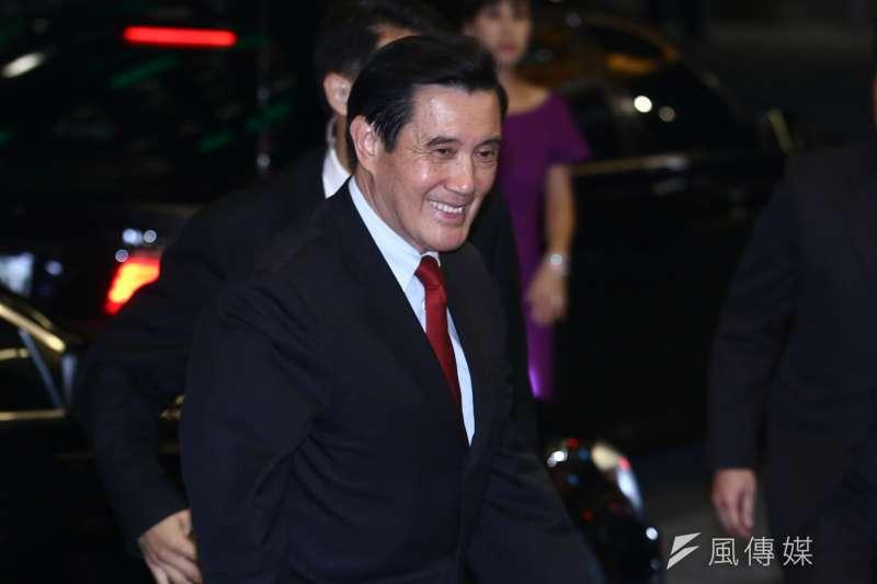 20181222-前總統馬英九出席連詠心歸寧宴。(蔡親傑攝)