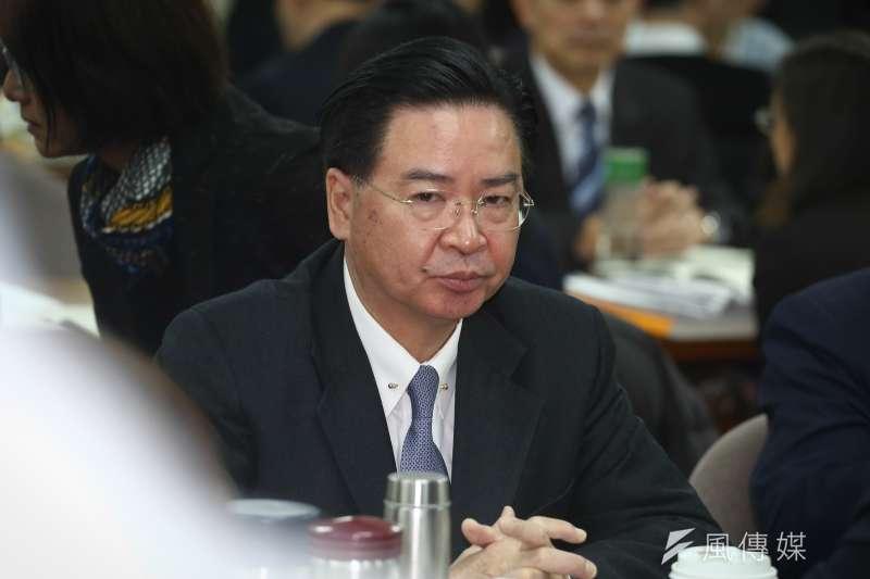 20181224-立法院外交及國防委員會,外交部長吳釗燮。(陳品佑攝)