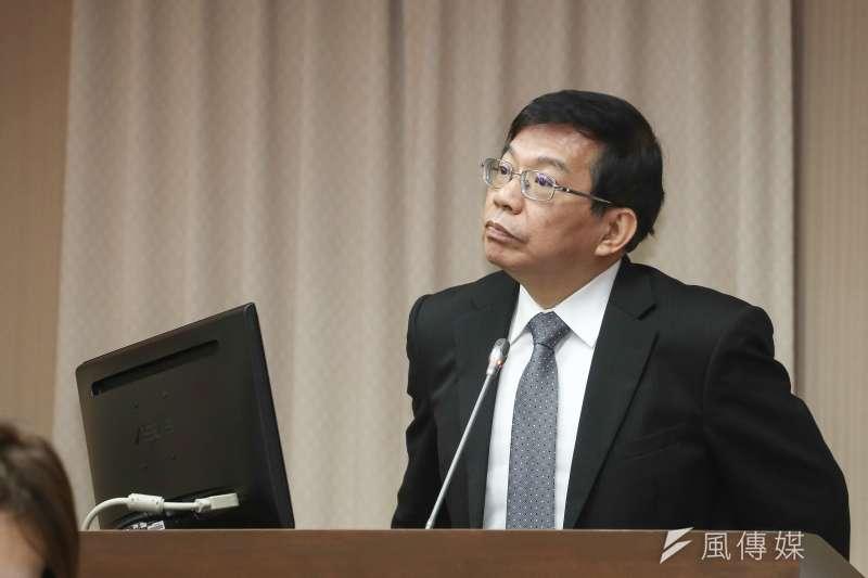20181224-立法院交通委員會,交通部代理部長王國材。(陳品佑攝)