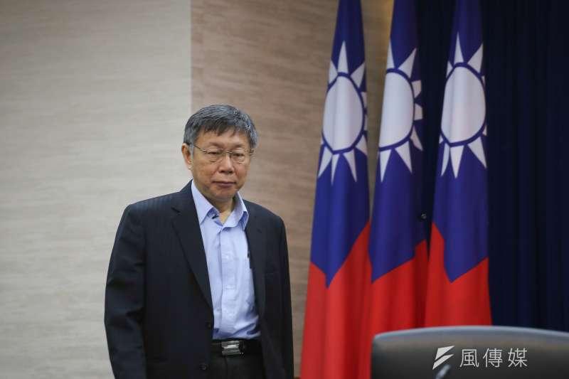 台北市柯文哲27日表示,平均不到1.3年換一位閣揆,這種憲政制度「誰來當總統都一樣做不好」。(資料照,陳品佑攝)