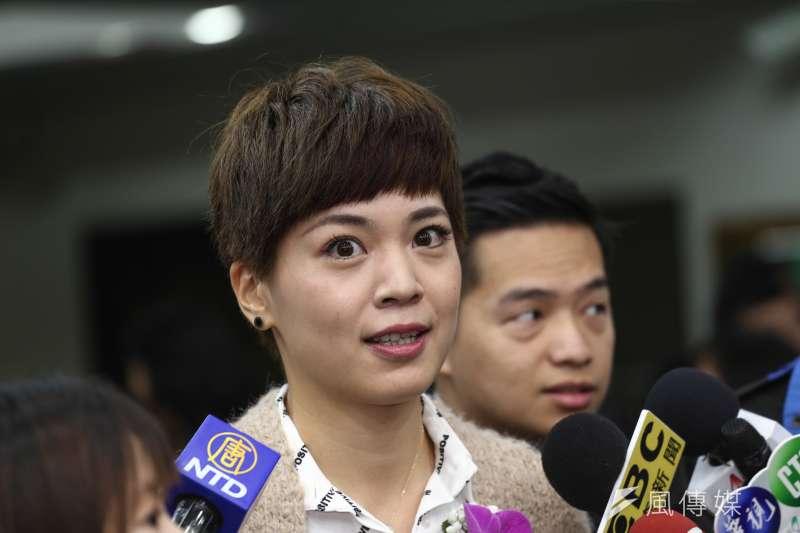 20181225-台北市議員宣誓與就職典禮,新任北市議員鍾沛君。(陳品佑攝)
