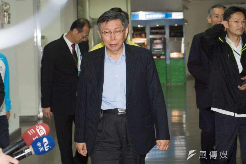 20181225-台北市議會「第13屆議員就職餐會」,台北市長柯文哲出席。(甘岱民攝)