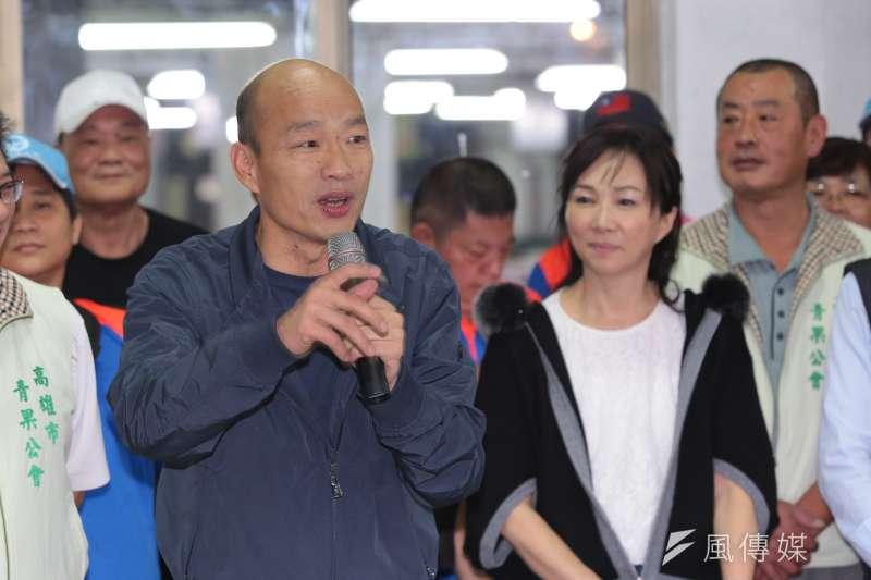 對於兩岸關係,高雄市長韓國瑜認為雙方是否交惡或友好對台灣影響大,但不要懷疑中共收復台灣的決心。(資料照,顏麟宇攝)