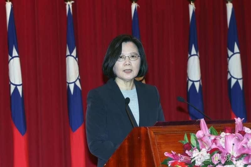 「以2020後為目標,進行國民大會修憲工作,徹底的確立民主政權在台灣的正當性,⋯⋯在『中華民國』框架下進行國家正常化,跳脫統一憲法,確立中華民國在台灣的統治合法性,並再進一步於適當時機探求台灣法理前途的未來。」(蘇仲泓攝)