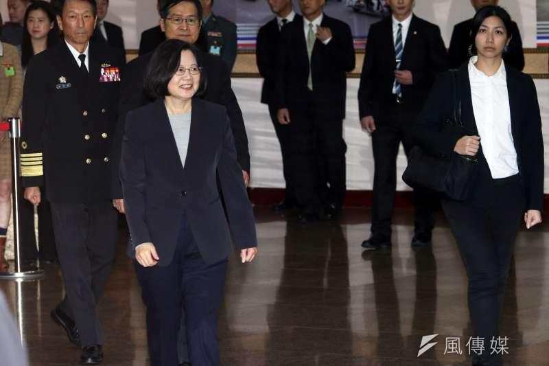20181225-總統蔡英文25日上午出席並主持國軍將官晉任典禮。(蘇仲泓攝)