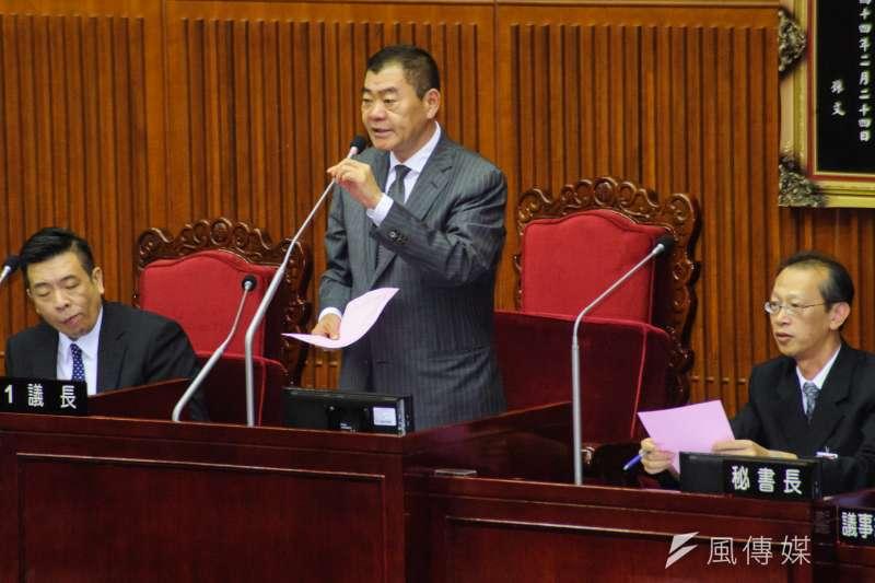 20181226-台北市議會第13屆成立大會,議長陳錦祥。(甘岱民攝)