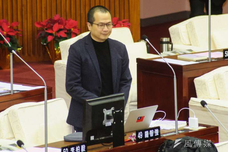 針對此次九合一大選,國民黨的「勝利」台北市議員羅智強點名兩個人。(資料照,甘岱民攝)