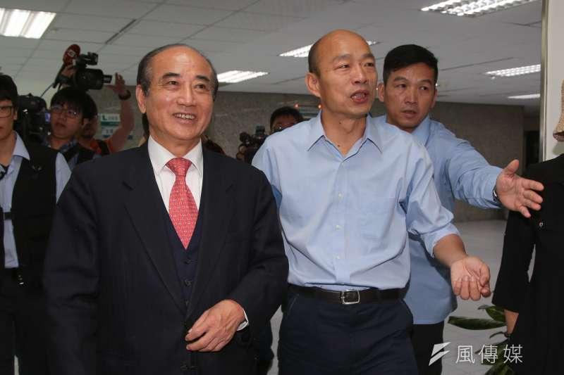 20181226-前立法院長王金平26日至高雄市政府拜會韓國瑜。(顏麟宇攝)