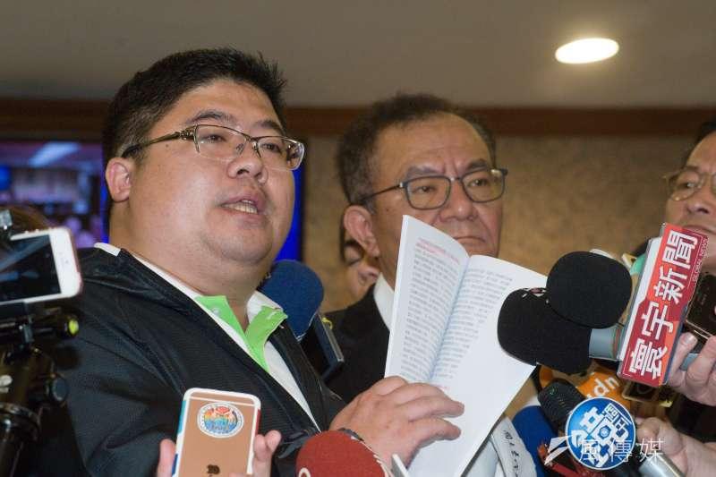 20181227-立法委員高志鵬記者會,立法委員蔡易餘。(甘岱民攝)