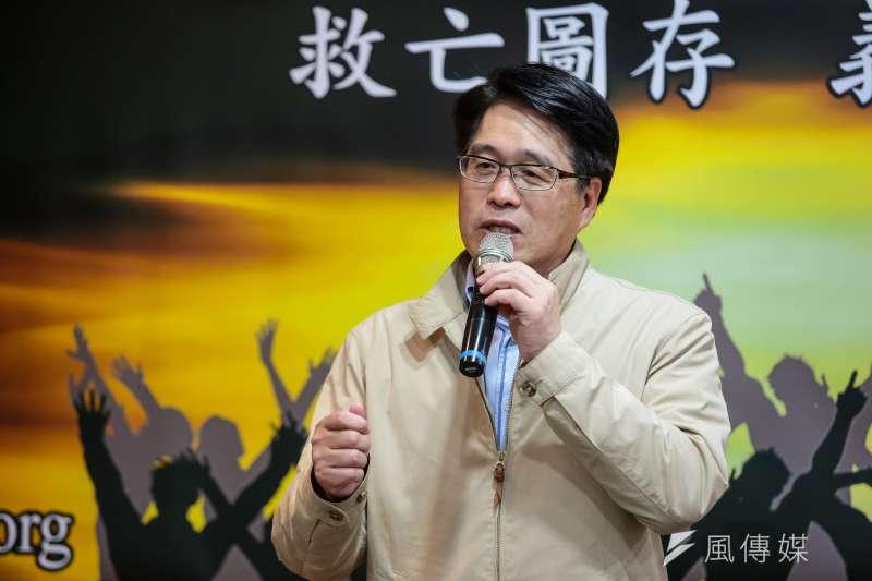 民進黨主席候選人游盈隆(見圖)尋求獨派、台派、扁迷的支持,力圖對抗中生代合推的卓榮泰。(資料照,顏麟宇攝)