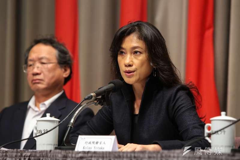行政院發言人Kolas Yotaka今日回嗆清華大學原子科學院院長李敏,「核廢料要放在哪裡?」 (資料照,顏麟宇攝)