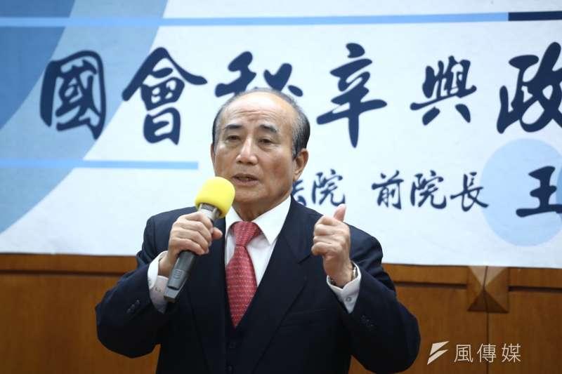 20181228-前立法院長王金平赴銘傳大學演講。(陳品佑攝)