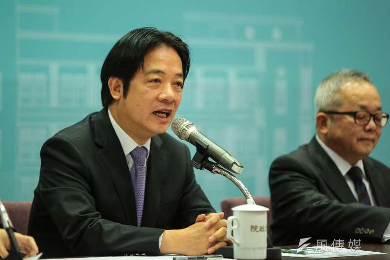 20181228-行政院長賴清德28日召開「2018年行政院賴院長年終記者會」。(顏麟宇攝)
