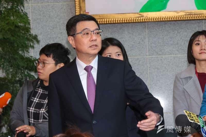 20181229-民進黨主席候選人卓榮泰29出席「民進黨主席補選政見發表會」。(顏麟宇攝)