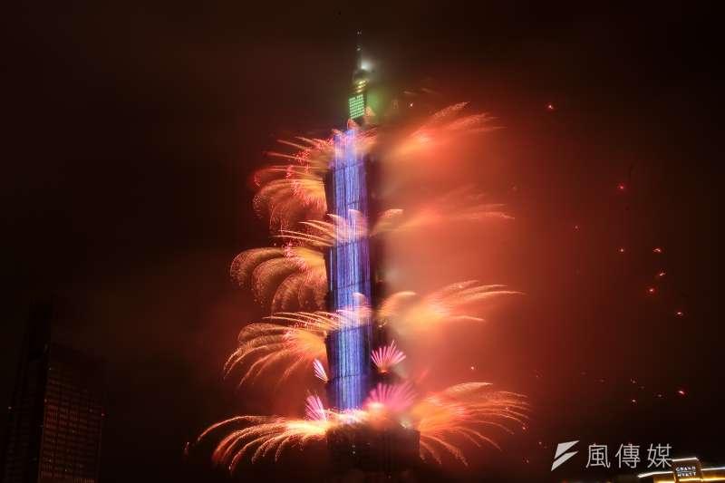 20190101-2019台北最High新年城跨年晚會,台北101跨年煙火。(顏麟宇攝)