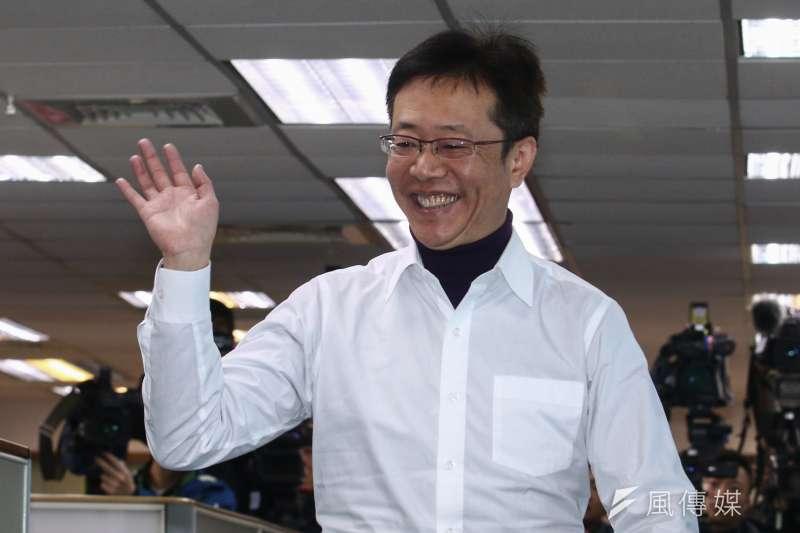 20190102-立委張宏陸於1月2日參與民進黨臨時中執會。(蔡親傑攝)