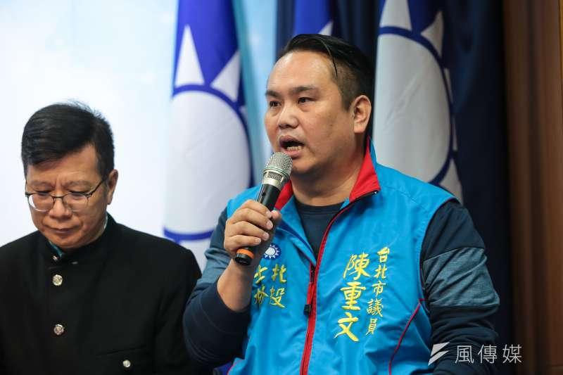國民黨台北市議員陳重文有意投入2020立委選戰。(顏麟宇攝)