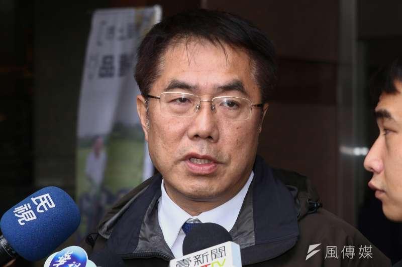 20190102-台南市長黃偉哲於1月2日參與民進黨臨時中執會。(蔡親傑攝)