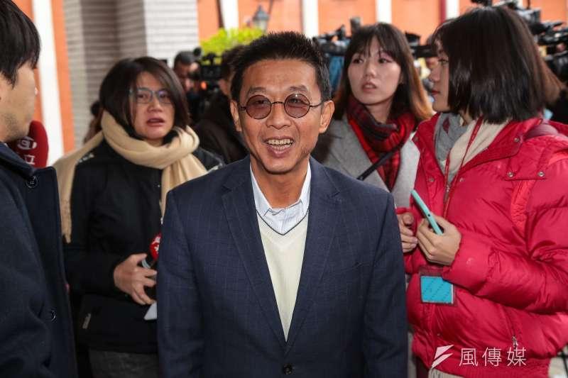 20190102-民進黨立委許智傑2日於立院接受媒體聯訪。(顏麟宇攝)