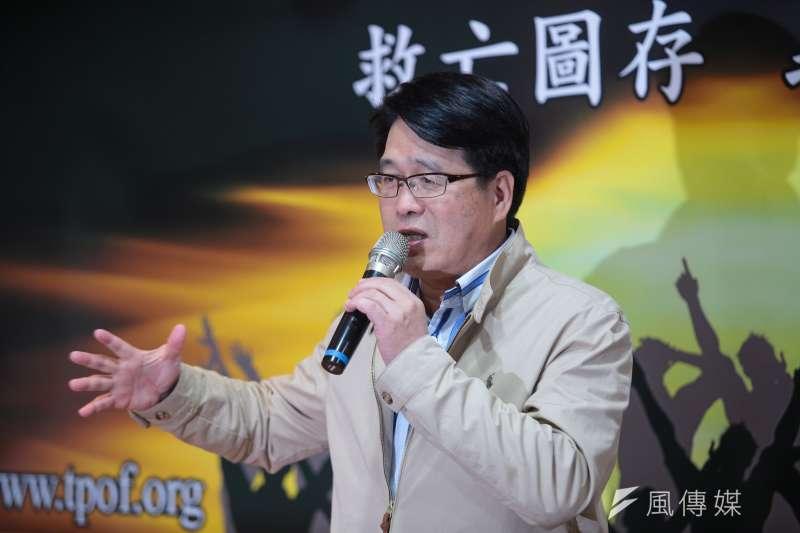 民進黨主席候選人游盈隆遭新潮流大將批評為「爛咖」,游也於5日晚間反擊。(資料照片,顏麟宇攝)