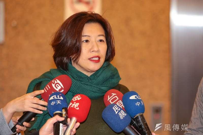 20190103-民進黨立委林靜儀3日於立院接受媒體聯訪。(顏麟宇攝)