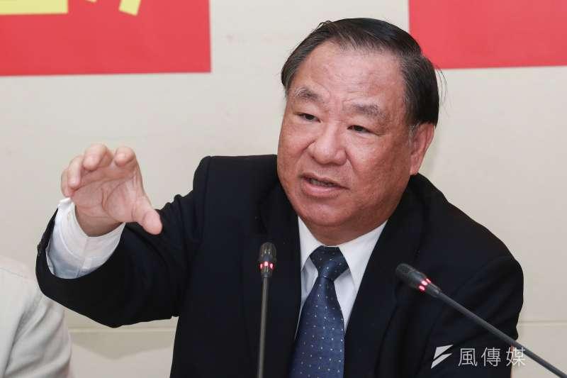 20190104-三民主義統一中國大同盟理事長葛永光出席「啟動兩岸和統進程」記者會。(蔡親傑攝)