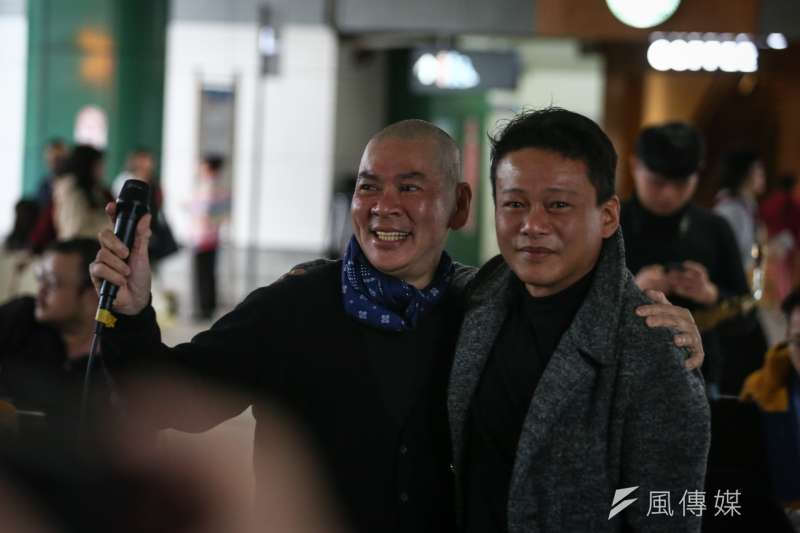 20190106-「蔡明亮的街頭演唱」寒士尾牙募款活動,夥伴演員李康生到場支持。(陳品佑攝)