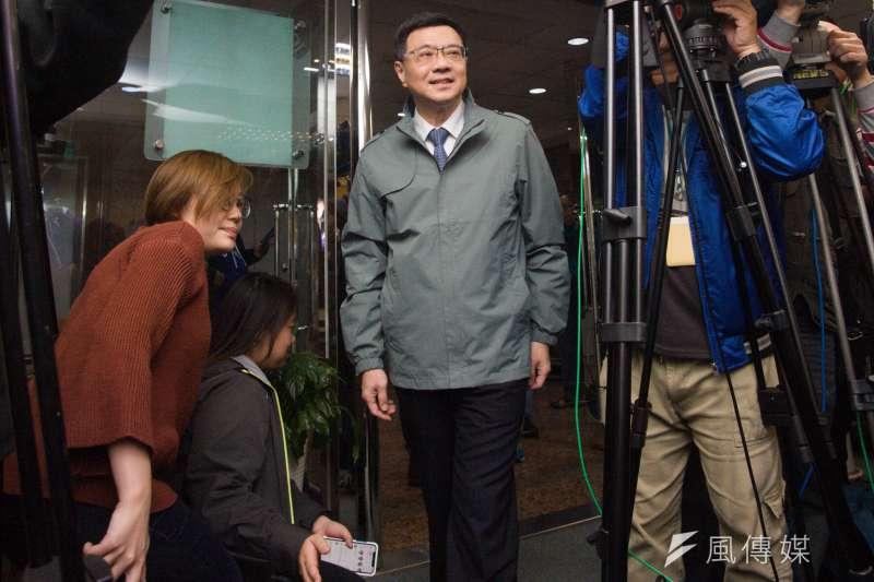20190106_民進黨主席當選人卓榮泰開記者會。(甘岱民攝)