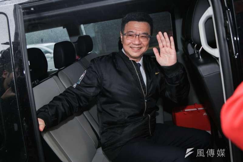 20190106-民進黨主席候選人卓榮泰6日出席「民進黨第16屆黨主席補選」投票,卓最後勝出。(簡必丞攝)