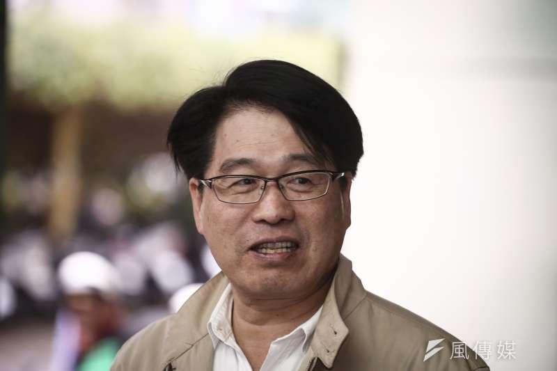 游盈隆(見圖)在前總統陳水扁的故鄉台南,落後比率明顯縮小。游獲1181票,得票率為40.14%,是輸掉國內各黨部中,得票比率最高的。(陳品佑攝)