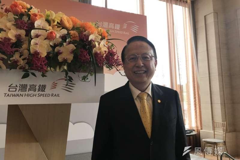 20190108-台灣高鐵8日宣布,今年第一季起將推出AI語音辨識訂票服務系統,讓民眾在手機APP上就可以全程用語音完成訂票與取票。圖為台灣高鐵董事長江耀宗。(廖羿雯攝)