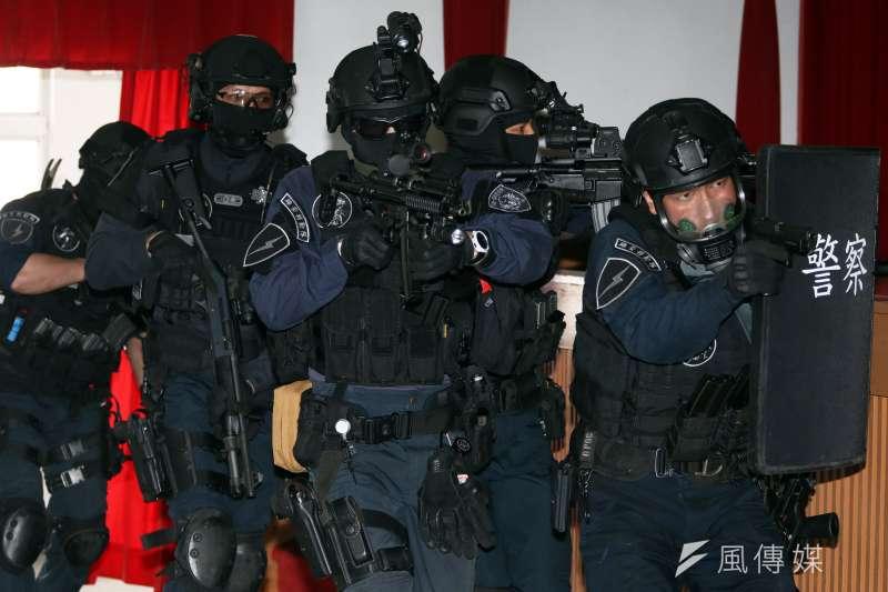維安特勤隊為我國最精銳的警察特勤隊,執行全國性反恐怖、反脅持、反破壞等任務。(資料照,蘇仲泓攝)