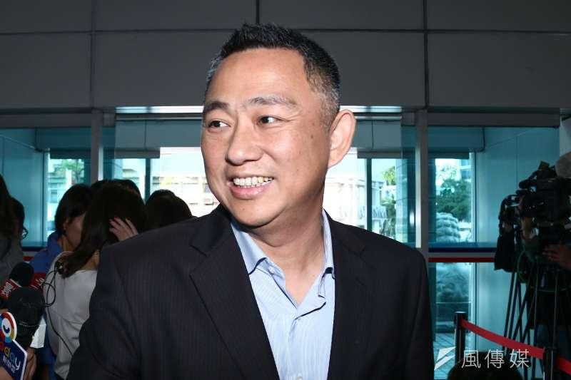 20190109-金門縣縣長楊鎮浯參與國民黨黨部15縣市長便當會。(蔡親傑攝)