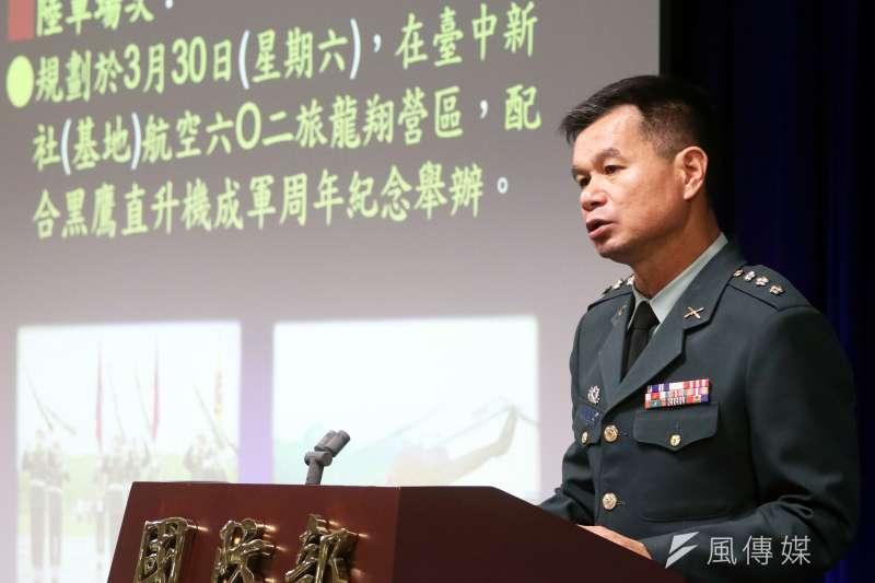 20190109-圖為訓次室軍訓處長黃文啓上校。(蘇仲泓攝)