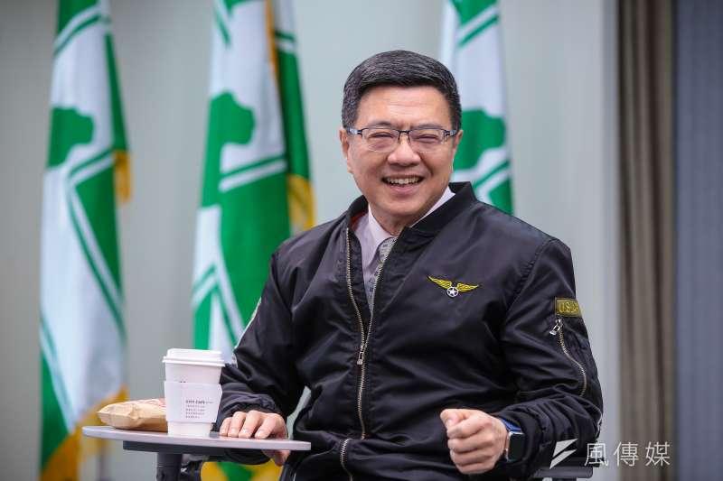民進黨主席卓榮泰11日下午與媒體茶敘時表示,一例一休,民進黨應該可以講得更清楚。(顏麟宇攝)