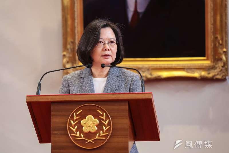 20190111-總統蔡英文11日召開記者會公布新任行政院長人選。(資料照,顏麟宇攝)